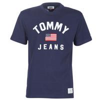 Ruhák Férfi Rövid ujjú pólók Tommy Jeans TJM USA FLAG TEE Tengerész