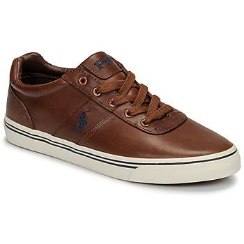 Cipők Férfi Rövid szárú edzőcipők Polo Ralph Lauren HANFORD Konyak