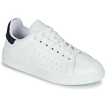 Cipők Női Rövid szárú edzőcipők Yurban SATURNA Fehér / Fekete