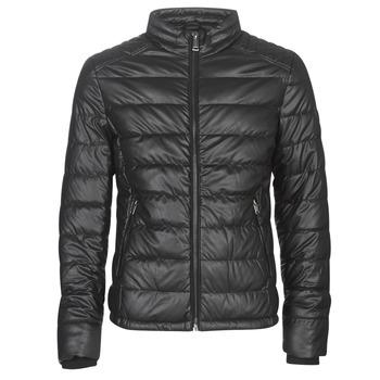 Ruhák Férfi Bőrkabátok / műbőr kabátok Guess STRETCH PU QUILTED Fekete
