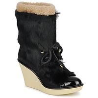 Cipők Női Bokacsizmák Sonia Rykiel HAIRY Fekete