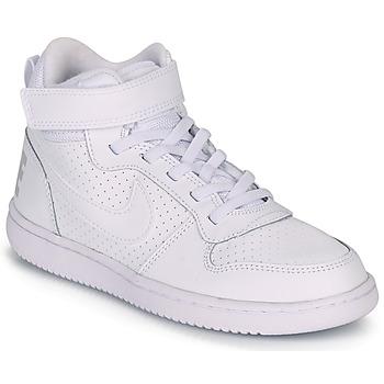 Cipők Gyerek Magas szárú edzőcipők Nike COURT BOROUGH MID PRE-SCHOOL Fehér
