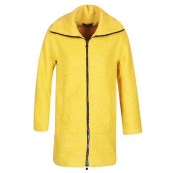 Ruhák Női Kabátok Desigual LAND Citromsárga
