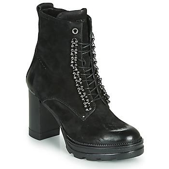 Cipők Női Bokacsizmák Mjus AMARANTA Fekete