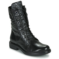 Cipők Női Csizmák Mjus CAFE METAL Fekete  / Piton