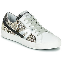 Cipők Női Rövid szárú edzőcipők Meline PANNA Fehér / Piton