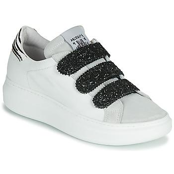 Cipők Női Rövid szárú edzőcipők Meline SCRATCHO Fehér / Fényes