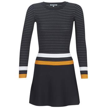 Ruhák Női Rövid ruhák Morgan ROXFA Tengerész / Fehér / Citromsárga