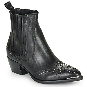 Cipők Női Bokacsizmák Ikks BP80075-03 Fekete