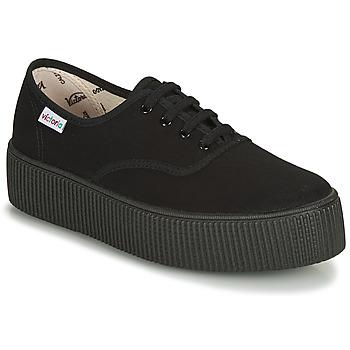 Cipők Női Rövid szárú edzőcipők Victoria 1915 DOBLE LONA PISO NEG Fekete