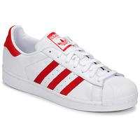 Cipők Rövid szárú edzőcipők adidas Originals SUPERSTAR Fehér / Piros