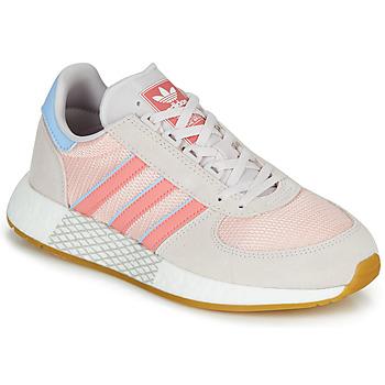 Cipők Női Rövid szárú edzőcipők adidas Originals MARATHON TECH W Szürke / Rózsaszín