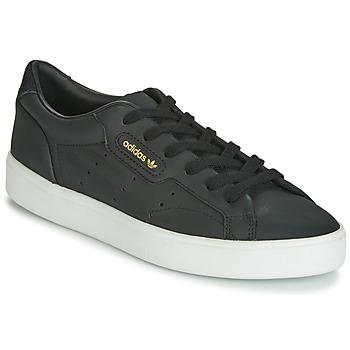 Cipők Női Rövid szárú edzőcipők adidas Originals SLEEK W Fekete