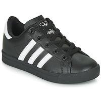 Cipők Gyerek Rövid szárú edzőcipők adidas Originals COAST STAR C Fekete  / Fehér