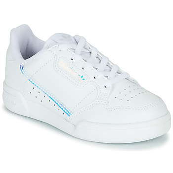 Cipők Gyerek Rövid szárú edzőcipők adidas Originals CONTINENTAL 80 C Fehér / Kék