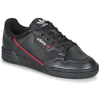 Cipők Gyerek Rövid szárú edzőcipők adidas Originals CONTINENTAL 80 J Fekete
