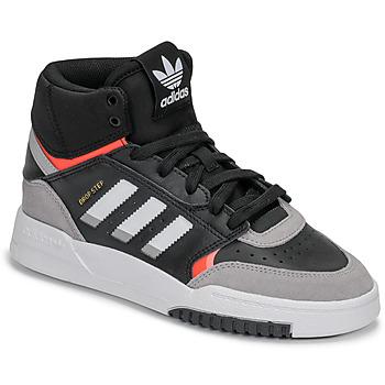 Cipők Fiú Magas szárú edzőcipők adidas Originals DROP STEP J Fekete  / Szürke