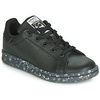 Cipők Gyerek Rövid szárú edzőcipők adidas Originals STAN SMITH C Fekete