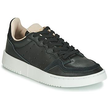 Cipők Gyerek Rövid szárú edzőcipők adidas Originals SUPERCOURT J Fekete
