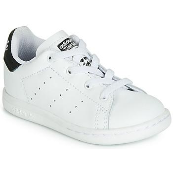 Cipők Gyerek Rövid szárú edzőcipők adidas Originals STAN SMITH EL I Fehér / Fekete
