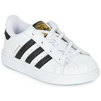 Cipők Gyerek Rövid szárú edzőcipők adidas Originals SUPERSTAR I Fehér / Fekete