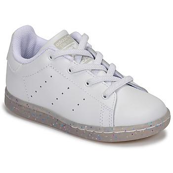Cipők Lány Rövid szárú edzőcipők adidas Originals STAN SMITH EL I Fehér / Fényes