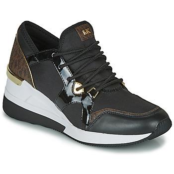 Cipők Női Rövid szárú edzőcipők MICHAEL Michael Kors LIV TRAINER Fekete  / Barna