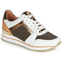 Cipők Női Rövid szárú edzőcipők MICHAEL Michael Kors BILLIE TRAINER Fehér / Barna