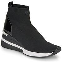 Cipők Női Magas szárú edzőcipők MICHAEL Michael Kors SKYLER Fekete