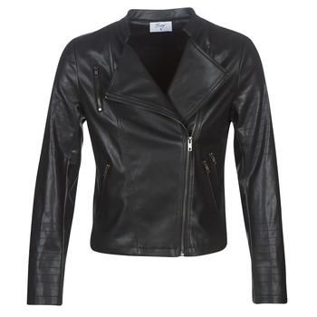 Ruhák Női Bőrkabátok / műbőr kabátok Moony Mood LAVINE Fekete