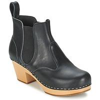 Cipők Női Bokacsizmák Swedish hasbeens CHELSEA Fekete
