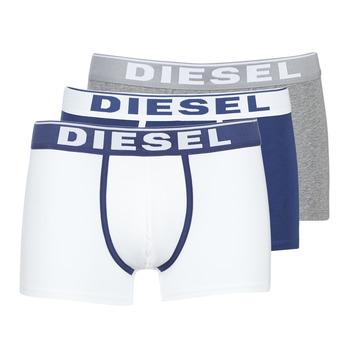 Fehérnemű Férfi Boxerek Diesel DAMIEN Fehér / Tengerész / Szürke