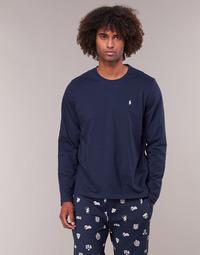 Ruhák Férfi Hosszú ujjú pólók Polo Ralph Lauren L/S CREW-CREW-SLEEP TOP Tengerész