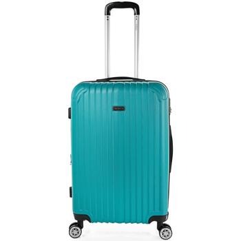 Táskák Keményfedeles bőröndök Itaca Sevron között Menta zöld