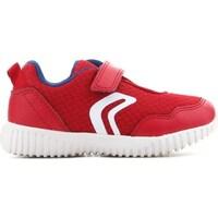 Cipők Gyerek Rövid szárú edzőcipők Geox B Waviness Czerwone