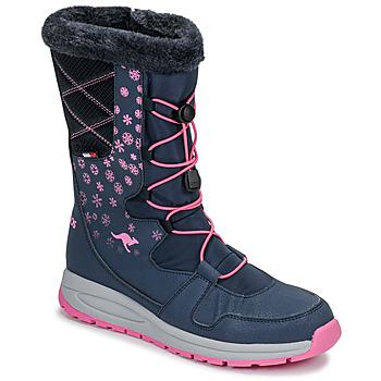 Cipők Női Hótaposók Kangaroos K-GLAZE RTX Tengerész / Rózsaszín