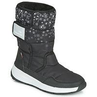 Cipők Lány Hótaposók Kangaroos K-FLUFF RTX Fekete  / Szürke