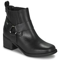 Cipők Női Bokacsizmák Musse & Cloud ARLING Fekete