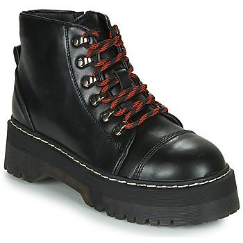 Cipők Női Csizmák Coolway ABLIS Fekete  / Piros