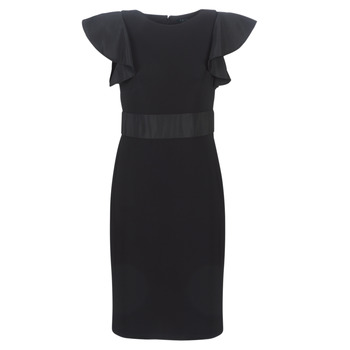 Ruhák Női Rövid ruhák Lauren Ralph Lauren JERSEY SLEEVELESS COCKTAIL DRESS Fekete