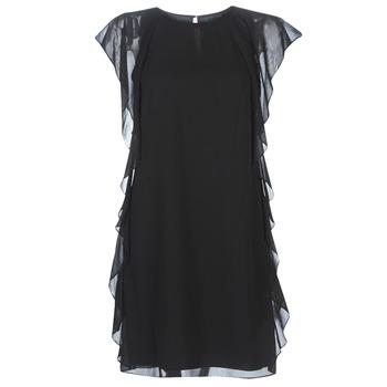 Ruhák Női Rövid ruhák Lauren Ralph Lauren RUFFLED GEORGETTE DRESS Fekete
