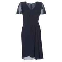 Ruhák Női Hosszú ruhák Lauren Ralph Lauren CUTLER CAP SLEEVE DAY DRESS Tengerész