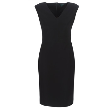 Ruhák Női Hosszú ruhák Lauren Ralph Lauren BLACK CAP SLEEVE DAY DRESS Fekete