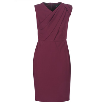 Ruhák Női Hosszú ruhák Lauren Ralph Lauren RUBY SLEEVELESS DAY DRESS Bordó