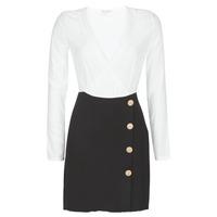 Ruhák Női Rövid ruhák Moony Mood LUCE Fekete  / Fehér