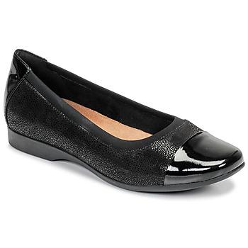 Cipők Női Balerina cipők / babák Clarks UN DARCEY CAP Fekete