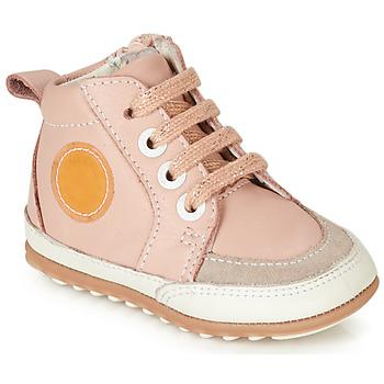 Cipők Lány Magas szárú edzőcipők Robeez MIGO Rózsaszín