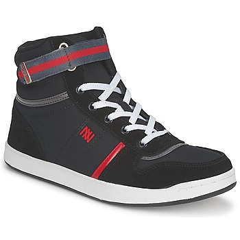 Cipők Női Magas szárú edzőcipők Dorotennis BASKET NYLON ATTACHE Fekete