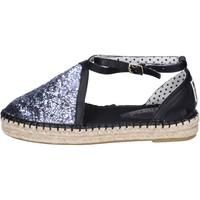 Cipők Női Gyékény talpú cipők O-joo sandali glitter pelle sintetica Argento