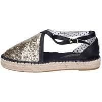 Cipők Női Gyékény talpú cipők O-joo sandali glitter pelle sintetica Oro